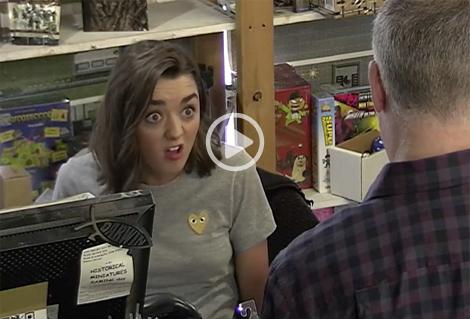 Maisie Williams se fait passer pour une vendeuse