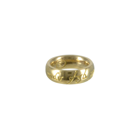 Pendentif Mini-anneau en or
