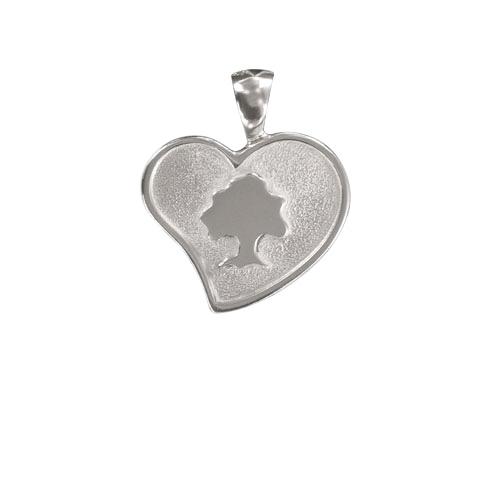 Médaille coeur Sylvoë personnalisée