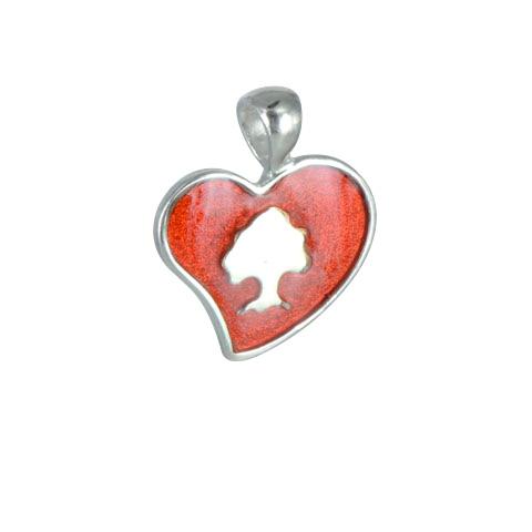 Sylvoë - Médaille coeur laquée - argent 925ème