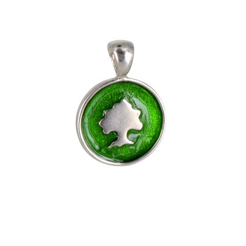 Sylvoë - Médaille ronde laquée - argent 925ème