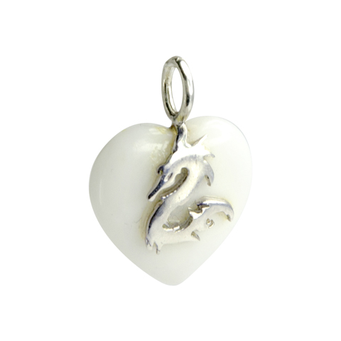 Coeur de Sylve - Dragon Agate blanche - Pendentif