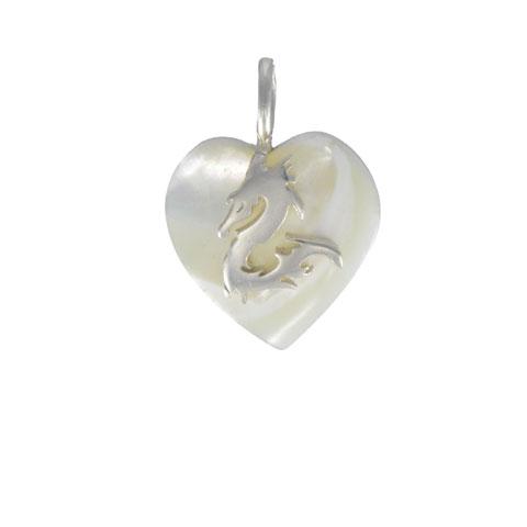 Coeur de Sylve - Dragon Nacre - Pendentif