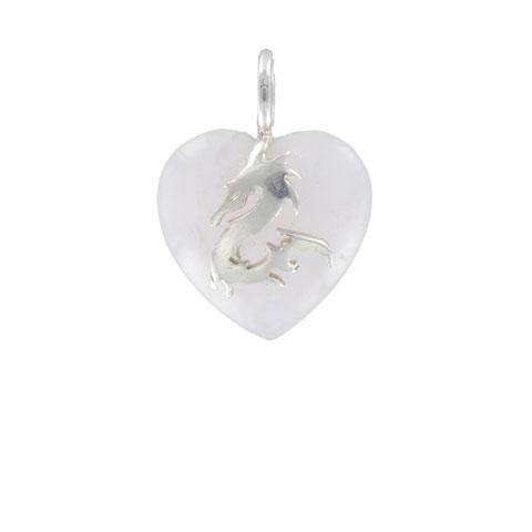 Coeur de Sylve - Dragon Quartz rose - Pendentif