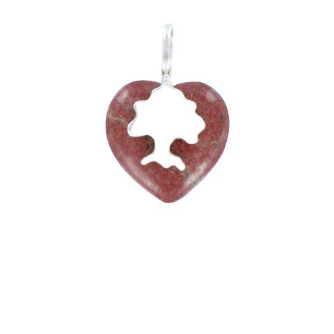 Coeur de Sylve - Sylvoe Jaspe rouge - Pendentif