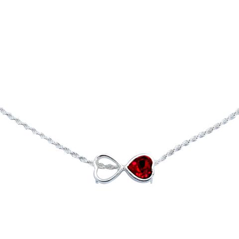 Infini coeur rouge - Pendentif