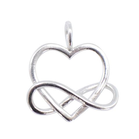 Coeur et Infini enlacés - pendentif