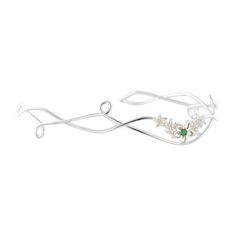 Diadème - Bouquet de fleurs Agate verte