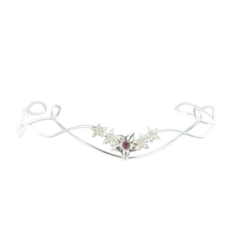 Diadème - Bouquet de fleurs Grenat
