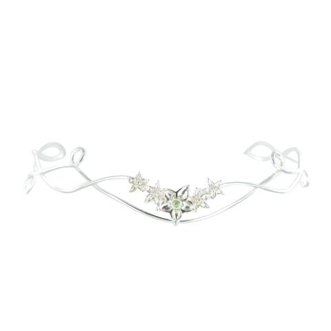 Diadème - Bouquet de fleurs Péridot Vert pastel