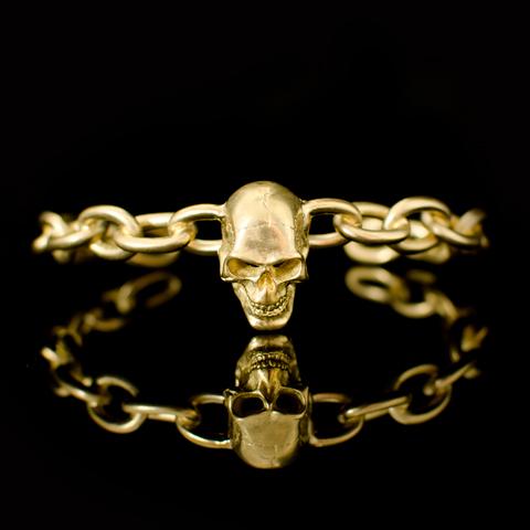 Bracelet - Tête de mort (sur chaine)