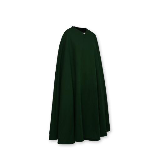 Cape sans capuche verte