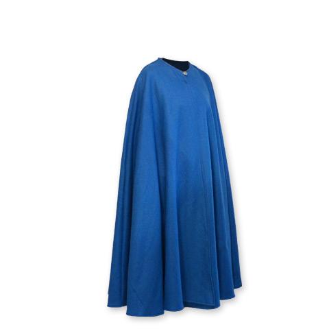 Cape sans capuche bleue