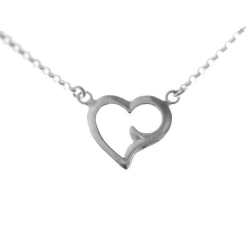 Coeur - collier argent 925ème