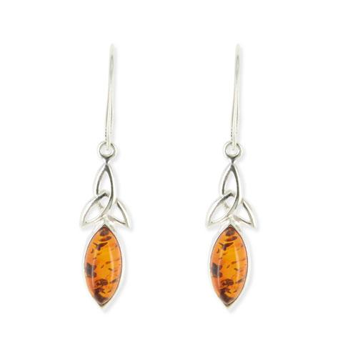 Monade - boucles d'oreilles argent 925eme et ambre
