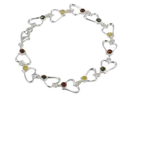 Darlyn - bracelet argent 925eme et 3 ambres