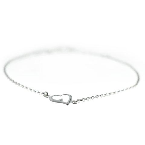 Coeur - bracelet argent 925ème