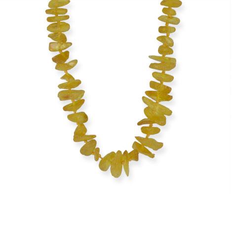 Ambre - collier ambre mat miel 45 cm