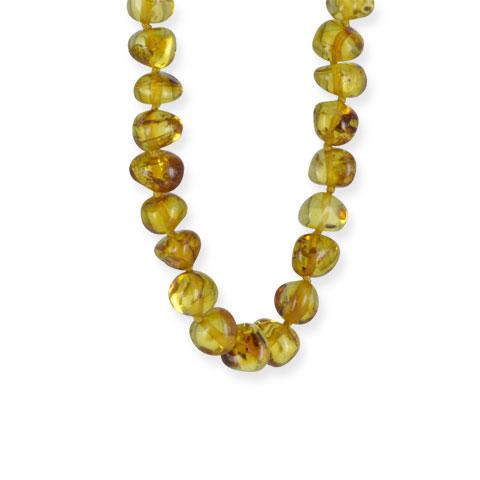 Ambre - collier gouttes d'ambre cognac 45 cm