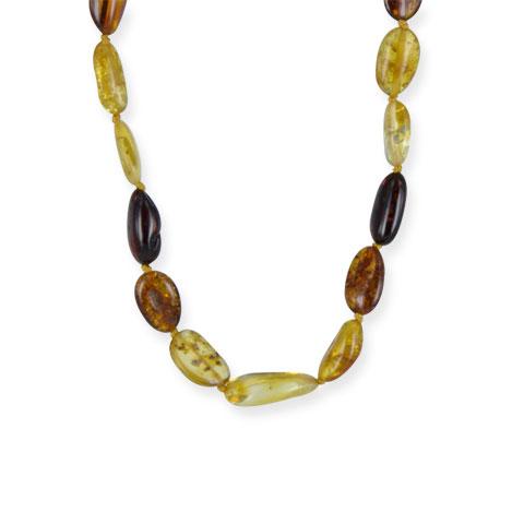 Ambre - collier ambre multicolore 45 cm