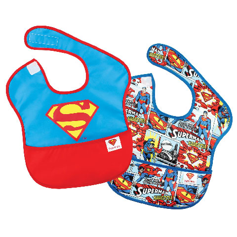 Pack de 2 super-bavoirs imperméables Superman