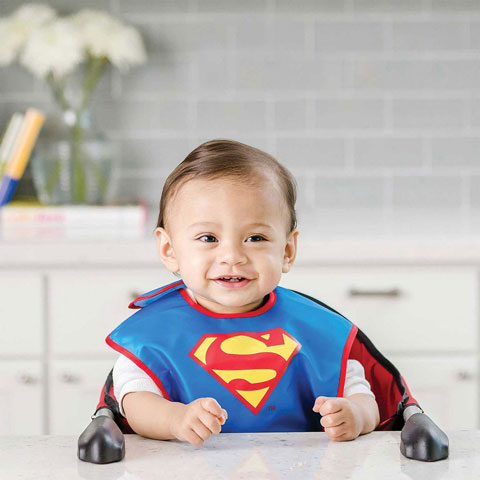 Pack de 2 super-bavoirs imperméables Superman
