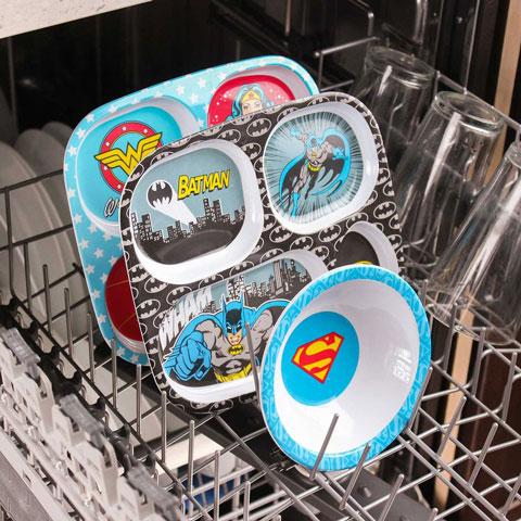Assiette à compartiments en mélamine Batman
