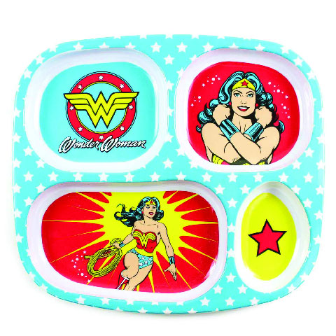 Assiette à compartiments en mélamine Wonder Woman