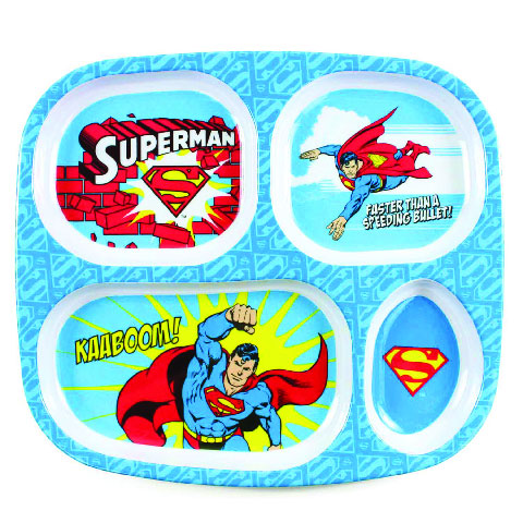 Assiette à compartiments en mélamine Superman