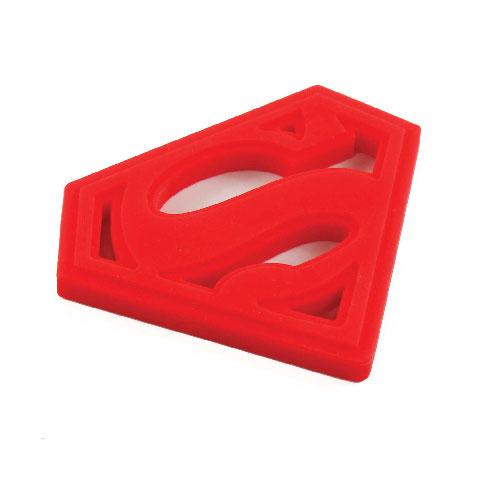 Anneau de dentition en silicone Superman