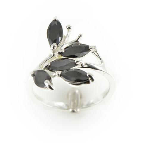 Envol - bague argent 925ème et oxyde zirconium noir