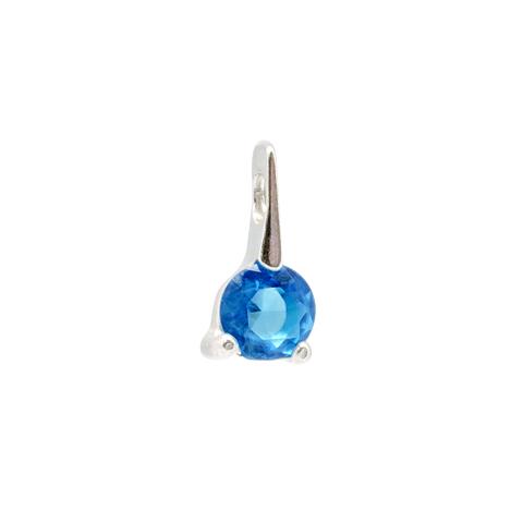 Intense - pendentif argent 925ème et strass bleu
