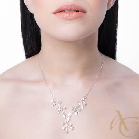 Délicate - collier argent 925ème et oxyde zirconium