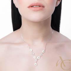 Splendeur - collier argent 925ème et oxyde zirconium