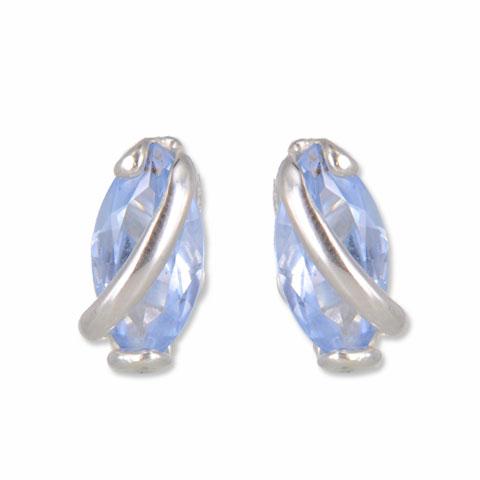Reflet - boucles d'oreilles argent 925ème et oxyde zirconium
