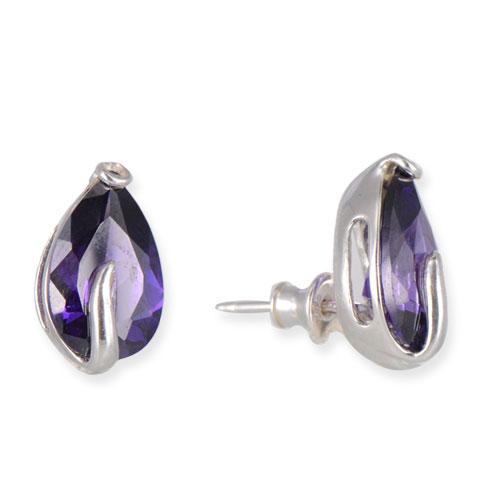 Chatoyant - boucles d'oreilles argent 925ème et oxyde zirconium