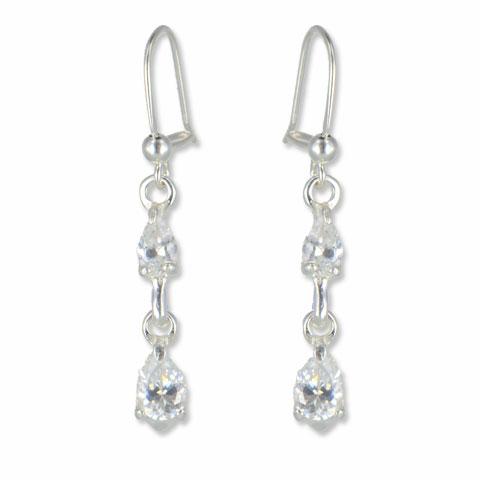 Intense - boucles d'oreilles argent 925ème et oxyde zirconium