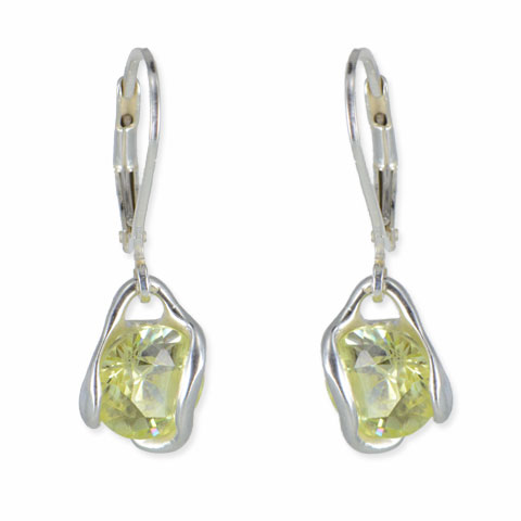 Zénith - boucles d'oreilles argent 925ème et oxyde zirconium