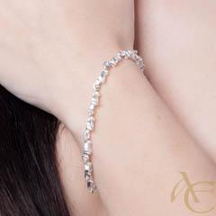 Intense - bracelet argent 925ème et oxyde zirconium