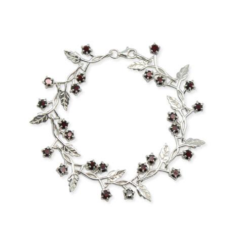 Délicate - bracelet argent 925ème et grenat