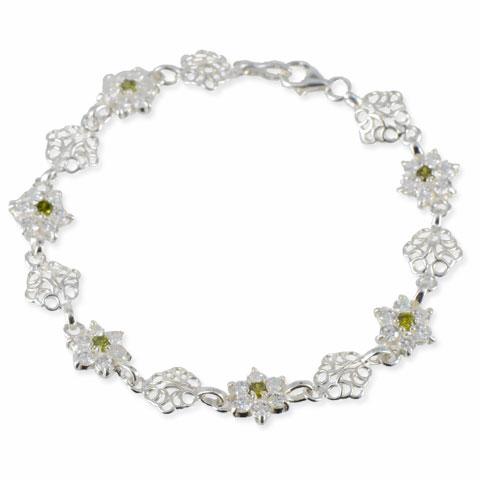 Splendeur - bracelet argent 925ème et oxyde zirconium