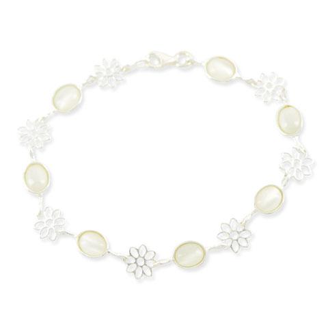 Irisé - bracelet argent 925ème et verre