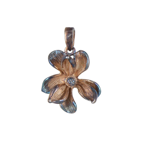 Nature - Magnolia automne - pendentif argent 925ème