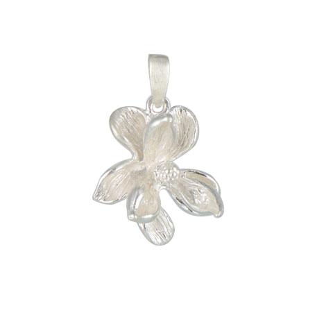 Nature - Magnolia - pendentif argent 925ème