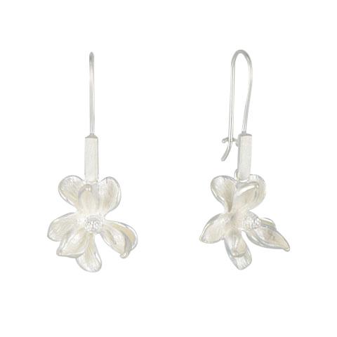 Nature - Magnolia - boucles d'oreilles argent 925ème
