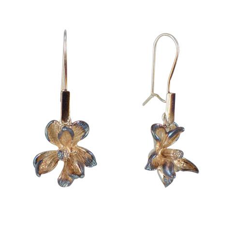 Nature - Magnolia automne - boucles d'oreilles argent 925ème