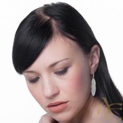 Nature - Plume boucles d'oreilles argent 925ème