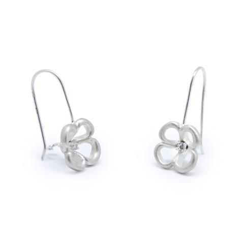 Nature - Corolles boucles d'oreilles argent 925ème