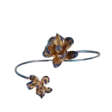 Nature - Magnolia automne - bracelet argent 925ème