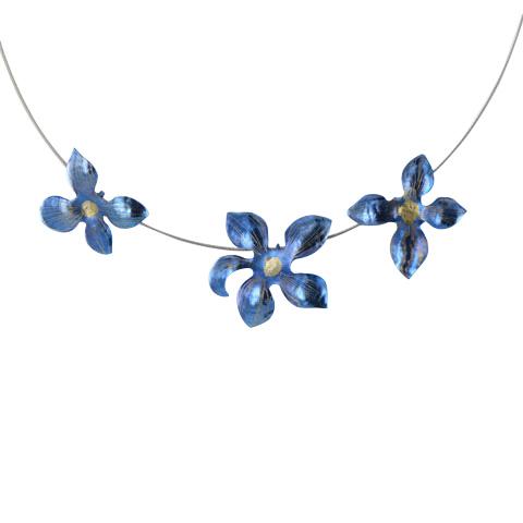 Violise  - collier en titane et cable acier